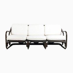 Ebonisiertes Sofa aus Bambus von Francesco Trabucco für Bonacina, 1972