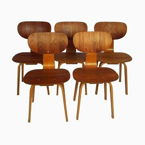 Model Sb02 Chairs by Cees Braakman for Pastoe, Set of 5