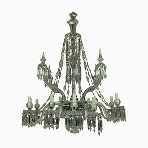 Kronleuchter aus Neoklassizistischem Kristallglas und Geschliffenem Glas von F & C Osler