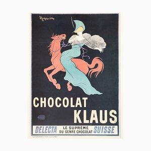Werbeplakat von Chocolat Klaus, 1960er