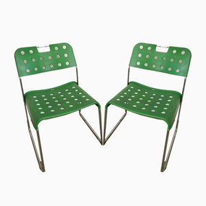Italian Garden Chairs by Rodney Kinsman for Bieffeplast, 1970s, Set of 2