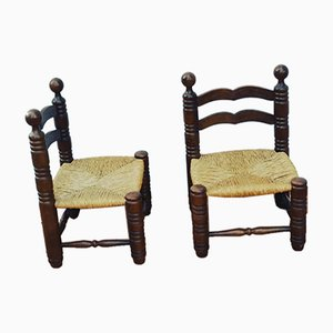 Vintage Side Chairs Attributed to Charles Dudouyt, Set of 2