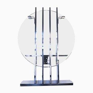 Consolle da ingresso vintage in vetro di Pierre Cardin, anni '80, set di 3