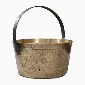 Antique English Heavy Brass Jam Pan, 1800s
