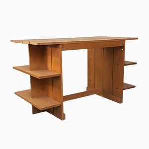 Mid-Century Italian Beech Crate Desk by Gerrit Rietveld for Cassina, 1934