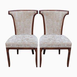 Beistellstühle aus Mahagoni, 1960er, 2er Set