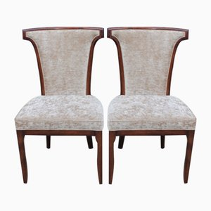 Mahogany Side Chairs, 1960s, Set of 2