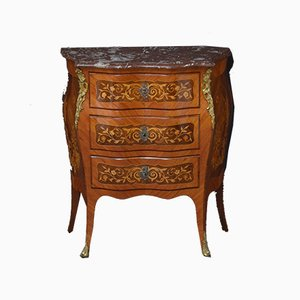 Antique Rosewood Bombe Chest of Drawers, Circa 1900