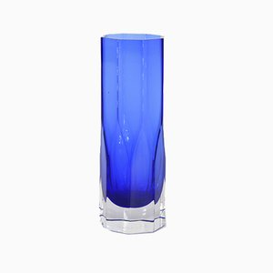 Vintage Scandinavian Cobalt Glass Vase by Gunnar Anderson for Lindshammar Glasbruk, 1950s