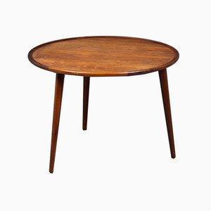 Mid-Century Danish Round Side Table by Anton Kildeberg, 1960s