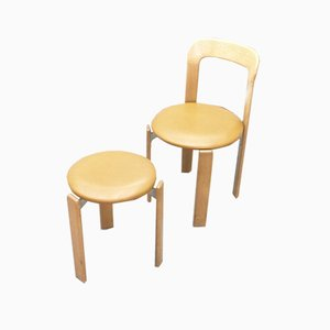 Mid-Century Swiss Side Chairs by Bruno Rey, 1960s, Set of 2