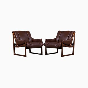 Mid-Century Rosewood Lounge Chairs by Torbjørn Afdal for Nesjestranda Møbelfabrikk, 1960s, Set of 2