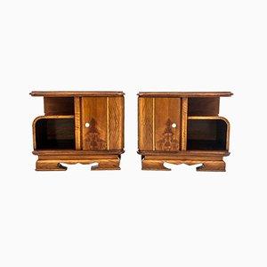 Tables de Chevet Art Déco, Pologne, 1950s, Set de 2