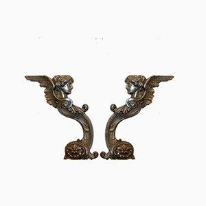 Antique Cast Iron Decorations, Set of 2