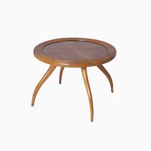 Tavolino da caffè Mid-Century in legno attribuito a Osvaldo Borsani