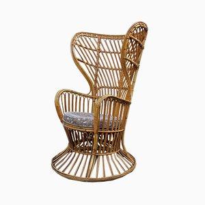Bamboo Lounge Chair by Lio Carminati, 1950s