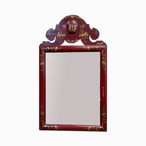 Large 19th Century Mirror with Asian Decor