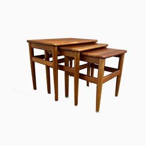Tables Gigognes Scandinaves, 1950s, Set de 3