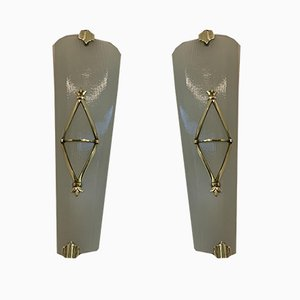 Vintage French Sconces by Petitot for Atelier Petitot, Set of 2
