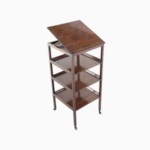 George III Mahogany 4-Tier What-Not