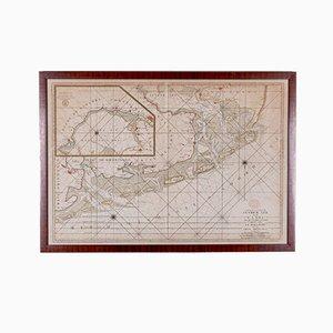 Kupfer Engraving, Map Entrees, Suyder Zee und die Embs, 1693