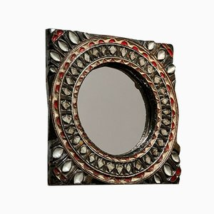 French Ceramic Mirror Attributed to Les Argonautes, 1970s