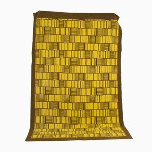 Yellow Carpet with Brown Pattern, 1970s