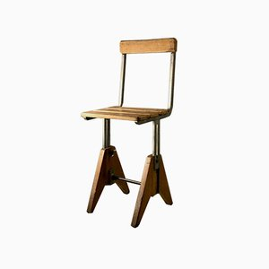 French Industrial Workshop Chair, 1960s