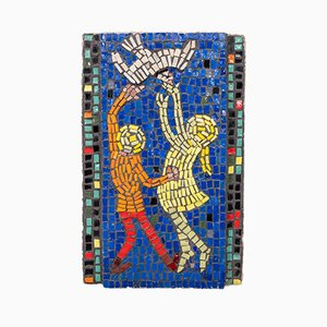 Glass Mosaic of Children Playing, 1960s