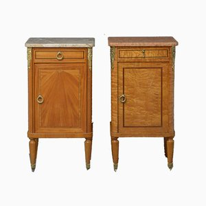 Antique Matching Bedside Cabinets, Set of 2