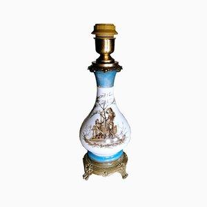 Französische Napoleon III Tischlampe von Porcelain de Paris