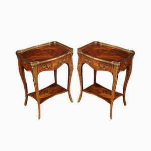 Tables de Chevet Incrustées en Palissandre, 1960s, Set de 2