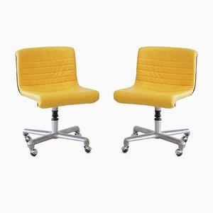 Chaises de Bureau Pivotantes par Ettore Sottsass & Hans von Klier, 1969, Set de 2