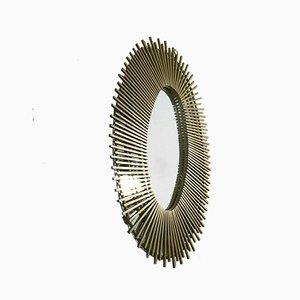 Französischer Sonnen Spiegel aus Eisen, 1950er