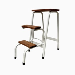 Mid-Century Metal Folding Step Stool