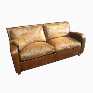 Sheep Leather Dutch Sofa, 1990s