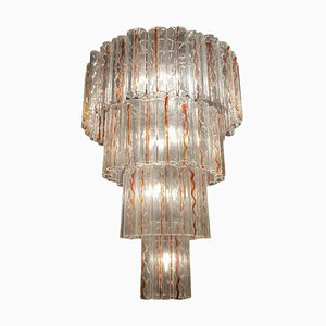 Extra Large Vintage Murano Glass Tube Chandelier, 1970s