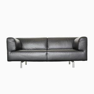 Canapé Vintage 250 Met en Cuir Noir par Piero Lissoni pour Cassina