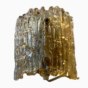 Crystal & Brass Sconce by Carl Fagerlund for Orrefors, 1960s