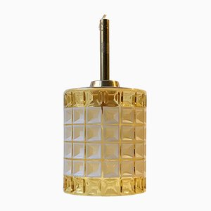 Vintage Honeycomb Glass Ceiling Lamp from Vitrika, 1960s