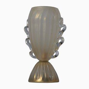 Lampada da tavolo Mid-Century in vetro di Murano soffiato di Barovier & Toso, Italia, anni '60