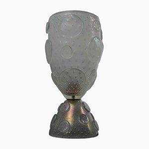 Lampada da tavolo Mid-Century in vetro di Murano soffiato di Barovier & Toso, Italia, anni '50
