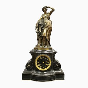 Napoleon III Bronze Clock in Bronze by Charles Lemoine