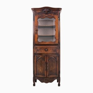 Antique French Oak Display Cabinet, 1890s