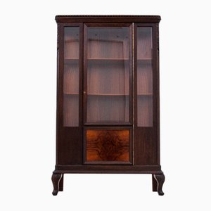 Interwar Period Oak Display Cabinet, 1930s