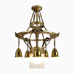 Antique Art Nouveau Style Chandelier