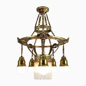 Antique Art Nouveau Style Chandelier