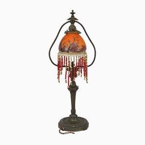 Antike Jugendstil Glas Tischlampe