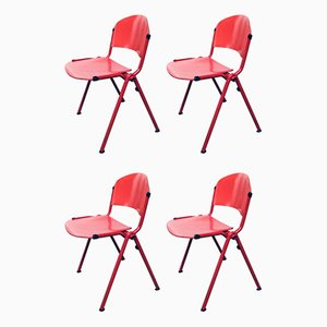 Industrial Stacking Dining Chairs from CAR Katwijk, 1980s, Set of 4