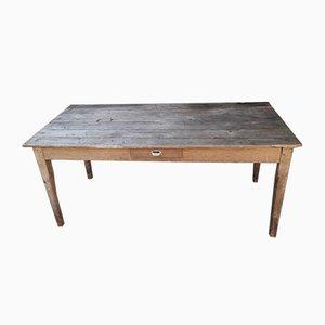 Antique Solid Oak Farmhouse Dining Table